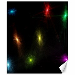 Star Lights Abstract Colourful Star Light Background Canvas 8  X 10