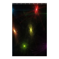 Star Lights Abstract Colourful Star Light Background Shower Curtain 48  X 72  (small)