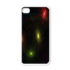 Star Lights Abstract Colourful Star Light Background Apple Iphone 4 Case (white) by Simbadda