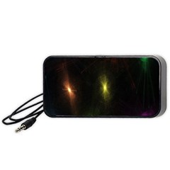 Star Lights Abstract Colourful Star Light Background Portable Speaker (black)