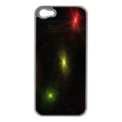 Star Lights Abstract Colourful Star Light Background Apple Iphone 5 Case (silver) by Simbadda