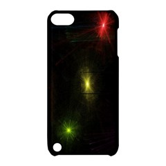 Star Lights Abstract Colourful Star Light Background Apple Ipod Touch 5 Hardshell Case With Stand by Simbadda