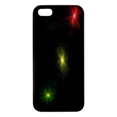 Star Lights Abstract Colourful Star Light Background Apple Iphone 5 Premium Hardshell Case by Simbadda