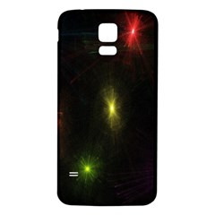 Star Lights Abstract Colourful Star Light Background Samsung Galaxy S5 Back Case (white) by Simbadda