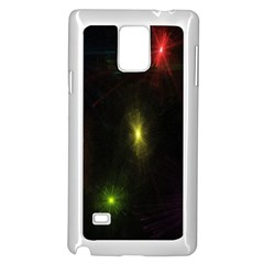 Star Lights Abstract Colourful Star Light Background Samsung Galaxy Note 4 Case (white)