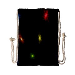Star Lights Abstract Colourful Star Light Background Drawstring Bag (small)