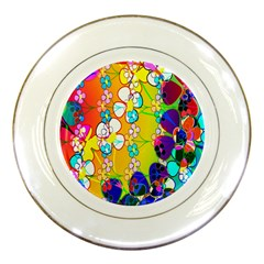 Abstract Flowers Design Porcelain Plates by Simbadda