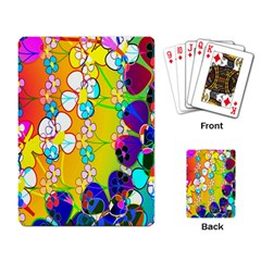 Abstract Flowers Design Playing Card by Simbadda
