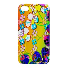 Abstract Flowers Design Apple Iphone 4/4s Premium Hardshell Case by Simbadda