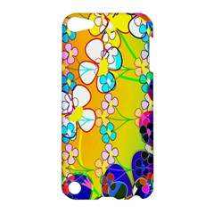 Abstract Flowers Design Apple Ipod Touch 5 Hardshell Case by Simbadda