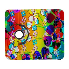 Abstract Flowers Design Galaxy S3 (flip/folio) by Simbadda