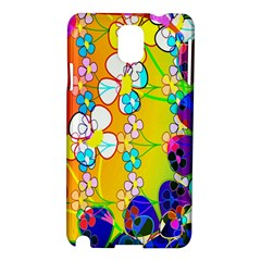 Abstract Flowers Design Samsung Galaxy Note 3 N9005 Hardshell Case