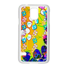 Abstract Flowers Design Samsung Galaxy S5 Case (white) by Simbadda