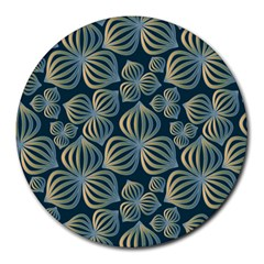 Gradient Flowers Abstract Background Round Mousepads by Simbadda
