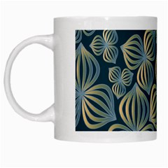 Gradient Flowers Abstract Background White Mugs by Simbadda