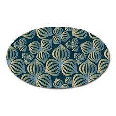 Gradient Flowers Abstract Background Oval Magnet