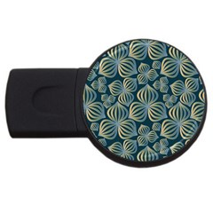 Gradient Flowers Abstract Background Usb Flash Drive Round (2 Gb)