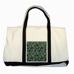 Gradient Flowers Abstract Background Two Tone Tote Bag by Simbadda