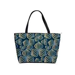 Gradient Flowers Abstract Background Shoulder Handbags