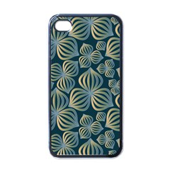 Gradient Flowers Abstract Background Apple Iphone 4 Case (black) by Simbadda