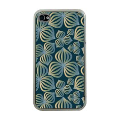 Gradient Flowers Abstract Background Apple Iphone 4 Case (clear)