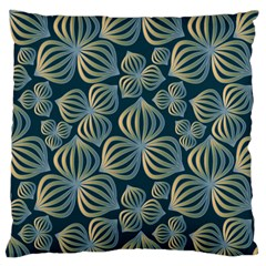 Gradient Flowers Abstract Background Large Cushion Case (one Side) by Simbadda
