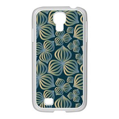 Gradient Flowers Abstract Background Samsung Galaxy S4 I9500/ I9505 Case (white)