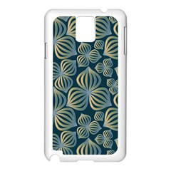 Gradient Flowers Abstract Background Samsung Galaxy Note 3 N9005 Case (white) by Simbadda