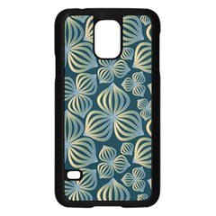 Gradient Flowers Abstract Background Samsung Galaxy S5 Case (black)
