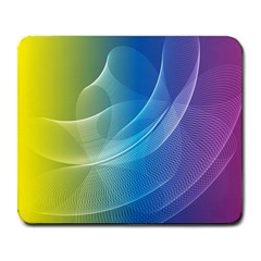 Colorful Guilloche Spiral Pattern Background Large Mousepads by Simbadda