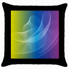 Colorful Guilloche Spiral Pattern Background Throw Pillow Case (black) by Simbadda
