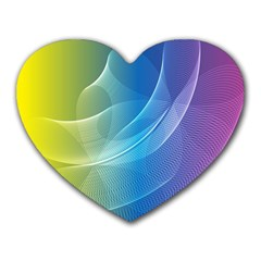 Colorful Guilloche Spiral Pattern Background Heart Mousepads by Simbadda