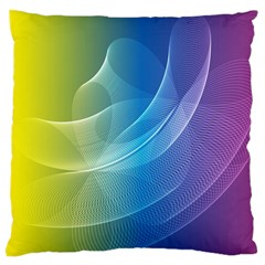 Colorful Guilloche Spiral Pattern Background Large Cushion Case (two Sides) by Simbadda
