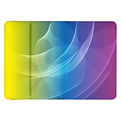 Colorful Guilloche Spiral Pattern Background Samsung Galaxy Tab 8 9  P7300 Flip Case by Simbadda
