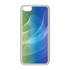 Colorful Guilloche Spiral Pattern Background Apple Iphone 5c Seamless Case (white)