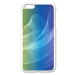 Colorful Guilloche Spiral Pattern Background Apple Iphone 6 Plus/6s Plus Enamel White Case by Simbadda