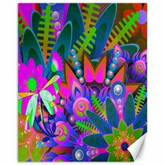 Wild Abstract Design Canvas 11  X 14