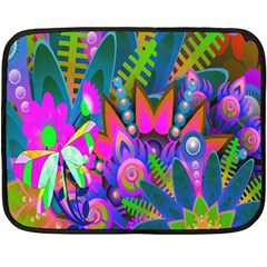 Wild Abstract Design Fleece Blanket (mini)
