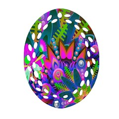 Wild Abstract Design Ornament (oval Filigree) by Simbadda