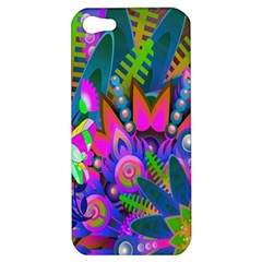 Wild Abstract Design Apple Iphone 5 Hardshell Case by Simbadda
