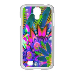 Wild Abstract Design Samsung Galaxy S4 I9500/ I9505 Case (white) by Simbadda