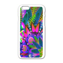 Wild Abstract Design Apple Iphone 6/6s White Enamel Case