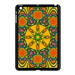 Seamless Orange Abstract Wallpaper Pattern Tile Background Apple iPad Mini Case (Black) Front