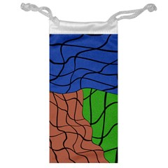 Abstract Art Mixed Colors Jewelry Bag