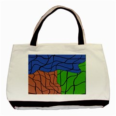 Abstract Art Mixed Colors Basic Tote Bag (two Sides) by Simbadda