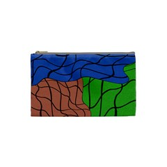 Abstract Art Mixed Colors Cosmetic Bag (small)  by Simbadda