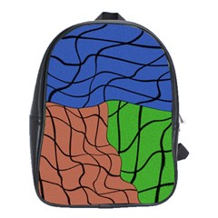 Abstract Art Mixed Colors School Bags (xl)  by Simbadda