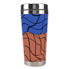 Abstract Art Mixed Colors Stainless Steel Travel Tumblers by Simbadda