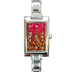 Background Water Abstract Red Wallpaper Rectangle Italian Charm Watch