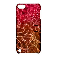 Background Water Abstract Red Wallpaper Apple Ipod Touch 5 Hardshell Case With Stand by Simbadda